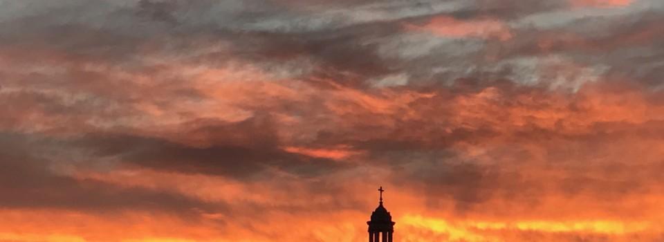 Church at sunrise 2017
